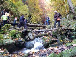 Spriechodnenie koryta potoka a výmena prehnitých stupačiek