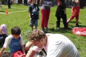 Ukážka záchranárskych techník, Deň detí Piatrová, 2013