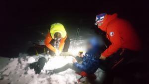 Nočná záchranná akcia v Kremnických vrchoch pri Kunešove.