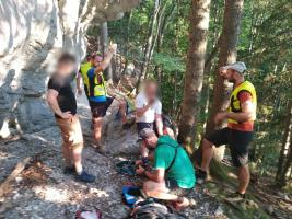 Záchranná akcia nad jaskyňou Mažarná