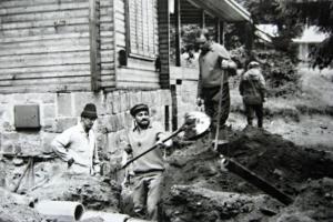 Odvodňovanie ZS  na MH,  asi 1972