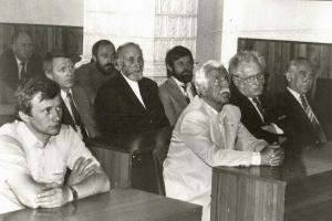 Zľava: M.Novotný, V.Halíř, K.Koza, F.Mrázik, K.Martinček, M.Svoboda, 1986