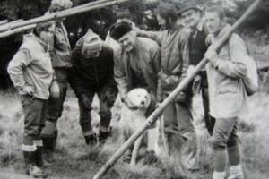 Tyčovanie hrebeňa Martinských holí, 1975