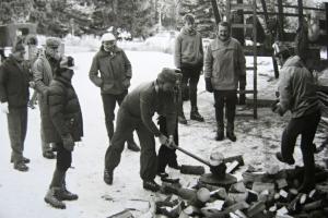 Príprava dreva pre ZS, 1985