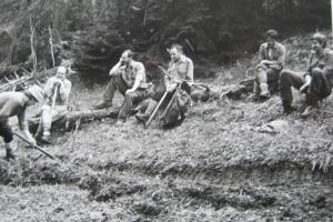 Úprava tur. chodníka Drobkovo – Ostredok, 1989