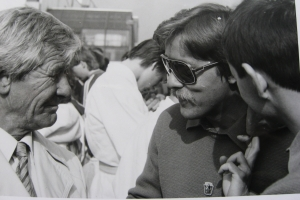 Vlado Bágeľ (ved. okrsku od 1959) a  Ďuro Páleš (ved. okrsku od 1992), 1988