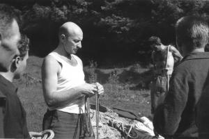 LVT v Dedošovej, zľava Počtárik, Hoffmann, Kocián, Duchaj, Číšecký, 1967