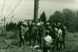 Sedačková lanovka, Martinské hole 1977